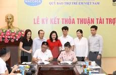 Ký thỏa thuận hỗ trợ cho trẻ em khó khăn thông qua Quỹ Bảo trợ trẻ em