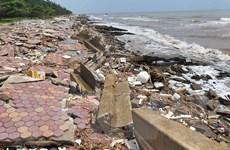 Cần sớm khắc phục sự cố sạt kè khu sinh thái biển Nam Định