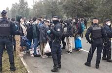 Cảnh sát Pháp dỡ bỏ một trại tị nạn trái phép ở cảng Calais