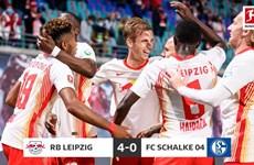 RB Leipzig chiếm ngôi đầu Bundesliga sau chiến thắng hủy diệt