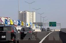 [Photo] Thông xe dự án cầu cạn Mai Dịch-Nam Thăng Long