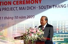 Phó Thủ tướng phát lệnh thông xe cầu cạn Mai Dịch-Nam Thăng Long