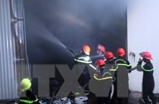 Nam Định: Khống chế đám cháy lớn tại Khu Công nghiệp Hòa Xá