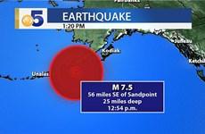 Mỹ: Xuất hiện sóng thần nhỏ sau động đất 7,5 độ ngoài khơi Alaska