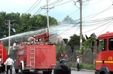 Khống chế kịp thời vụ cháy nhà xưởng ở khu công nghiệp Bình Chiểu