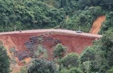 Nhiều điểm sạt lở mới trên tuyến đường độc đạo nối Bình Phước-Lâm Đồng