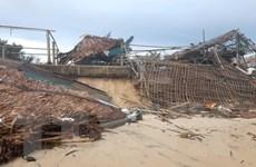 Quảng Trị: Sạt lở bờ biển nghiêm trọng gây nhiều thiệt hại