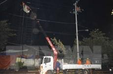 Điện lực Bình Định khắc phục xong sự cố lưới điện sau bão số 9
