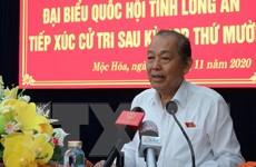 Phó Thủ tướng Trương Hòa Bình tiếp xúc cử tri tại tỉnh Long An