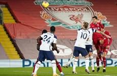 Đánh bại Tottenham, Liverpool độc chiếm ngôi đầu Premier League