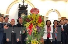 Lãnh đạo thành phố Hà Nội thăm, chúc mừng Giáo phận Hưng Hóa