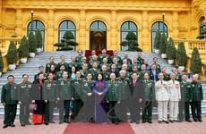 Phó Chủ tịch nước tiếp đại biểu CCB Trung đoàn 271 Quân khu Trị Thiên