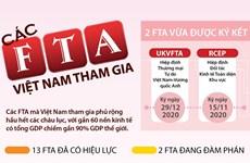 [Infographics] Những FTA Việt Nam tham gia tính đến tháng 12/2020