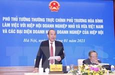 Phó Thủ tướng làm việc với Hiệp hội doanh nghiệp nhỏ và vừa