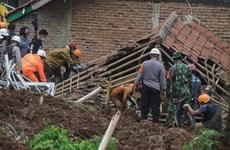Hiện trường hai vụ lở đất liên tiếp gây nhiều thương vong ở Indonesia