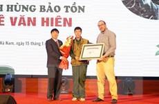 Thợ săn bỏ nghề ở Hà Nam được vinh danh Anh hùng bảo tồn