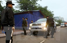 [Photo] Đảm bảo tuyệt đối an ninh, an toàn Đại hội XIII của Đảng