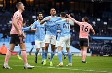 Man City củng cố ngôi đầu, M.U có nguy cơ mất vị trí nhì bảng