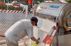 Dịch COVID-19: Bình Dương lập lại 'ATM gạo' gần khu bị phong tỏa