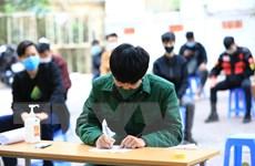 Hưng Yên: Huyện Yên Mỹ xét nghiệm cho thanh niên trước khi nhập ngũ