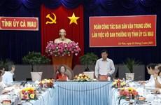 Đoàn công tác Ban Dân vận Trung ương làm việc với Tỉnh ủy Cà Mau