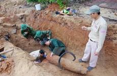 Quảng Bình: Xử lý thành công quả bom nặng 227kg trong khu dân cư