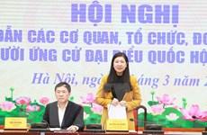 Hà Nội hướng dẫn giới thiệu người ứng cử đại biểu Quốc hội khóa XV