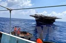 Khánh Hòa: Cứu hai ngư dân gặp nạn trên vùng biển Trường Sa