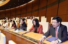 Trình Quốc hội phê chuẩn việc bổ nhiệm Phó Thủ tướng, Bộ trưởng