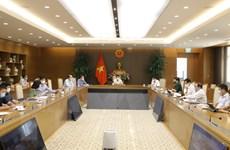 [Photo] Thường trực BCĐ phòng, chống dịch COVID-19 họp trực tuyến