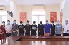 Bắc Ninh: Bắt quả tang 13 đối tượng đánh bạc bất chấp dịch COVID-19