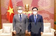 Chủ tịch Quốc hội Vương Đình Huệ tiếp Đại sứ Nhật Bản Yamada Takio