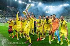 Villarreal ăn mừng tưng bừng chức vô địch Europa League đầu tiên