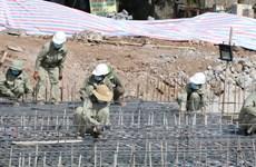 Ninh Bình kịp thời khắc phục sự cố sụt giàn giáo xây dựng cầu Hà Thanh