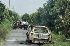 Không khởi tố hình sự vụ xe taxi cháy khiến 1 người tử vong ở An Giang