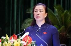 Bà Lê Thị Thu Hồng được bầu làm Chủ tịch HĐND tỉnh Bắc Giang khóa XIX