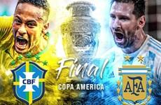 Link xem trực tiếp chung kết Copa America Brazil-Argentina