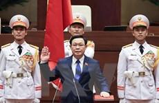 Chủ tịch Quốc hội Campuchia chúc mừng Chủ tịch Quốc hội Vương Đình Huệ
