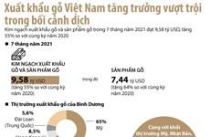 [Infographics] Kim ngạch xuất khẩu gỗ và sản phẩm gỗ đạt 9,58 tỷ USD