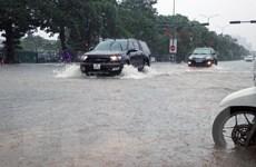 Mưa lớn gây ngập úng trên diện rộng tại thành phố Hải Phòng