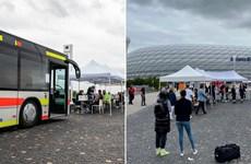 CĐV được tiêm vaccine khi đến sân Allianz xem Bayern Munchen thi đấu