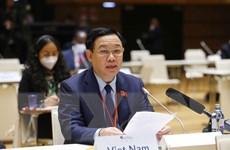 Chủ tịch Quốc hội phát biểu về ứng phó COVID-19 và biến đổi khí hậu
