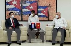 Trưởng Ban Nội chính TW tiếp Trưởng Ban Tổ chức Trung ương ĐCS Cuba