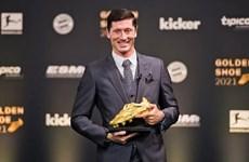 Robert Lewandowski giành danh hiệu Chiếc giày vàng châu Âu 2021