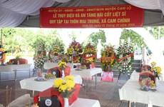 Quảng Trị: Tổ chức lễ truy điệu và an táng 10 hài cốt liệt sỹ