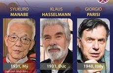 [Infographics] Nobel Vật lý vinh danh 3 nhà khoa học Mỹ, Đức và Italy