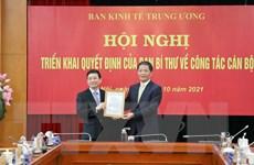 Ông Nguyễn Duy Hưng giữ chức Phó Trưởng ban Kinh tế Trung ương