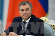 Nga: Ông Vyacheslav Volodin được bầu làm Chủ tịch Hạ viện khóa mới