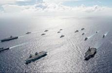 Các nước Nhóm 'Bộ tứ' tập trận hải quân chung tại Ấn Độ Dương