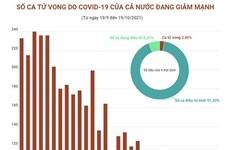 [Infographics] Số ca tử vong do COVID-19 của cả nước đang giảm mạnh